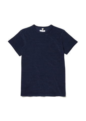 Towelling T-Shirt in Dark Indigo