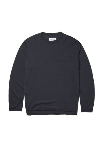 Loose Fit Long Sleeve T-Shirt in Dark Navy