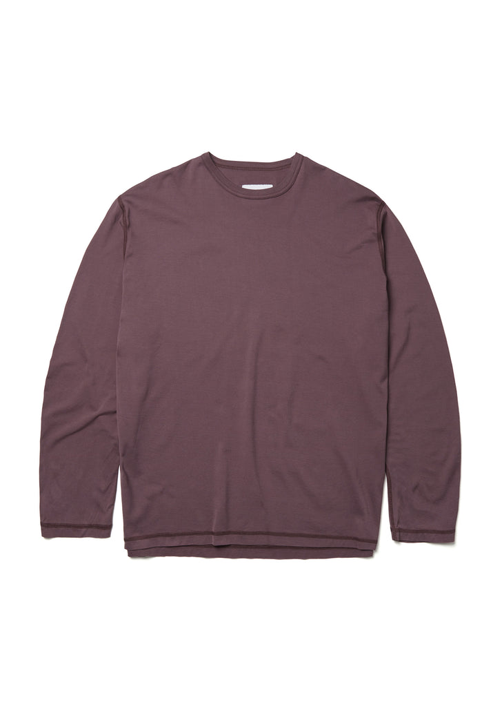 Loose Fit Long Sleeve T-Shirt in Plum
