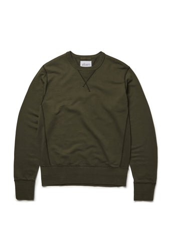 Sweatshirt in Leaf Green
