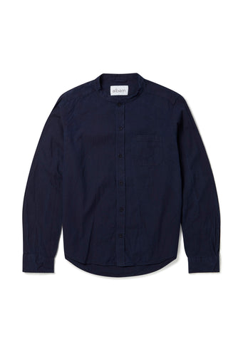 Grandad Shirt in Indigo