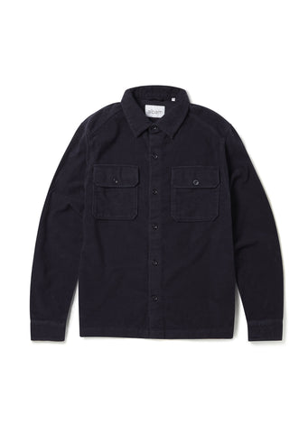 Moleskin Overshirt in Dark Navy