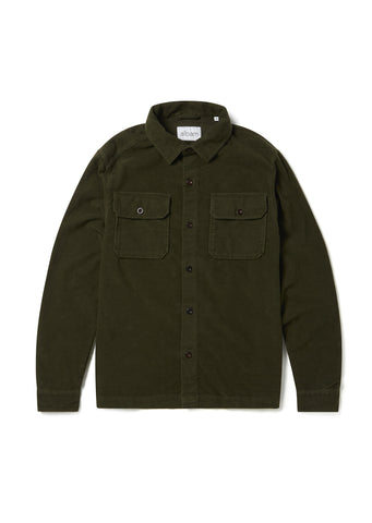 Moleskin Overshirt in Leaf Green