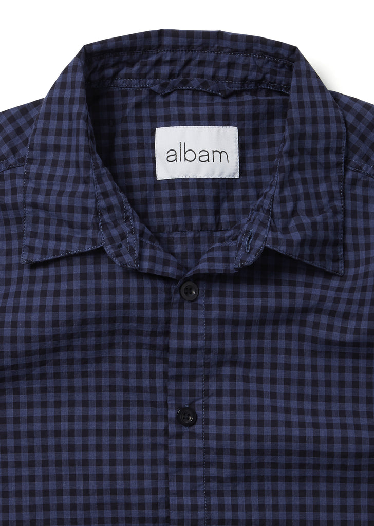 Easy Shirt in Dark Navy Gingham