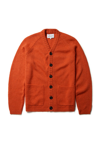 High V Cardigan in Orange
