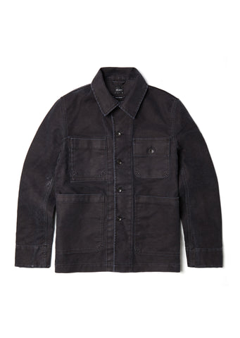 Mechanics Jacket in Black Moleskin
