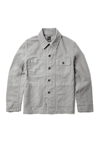 Mechanics Jacket in Grey Moleskin