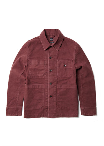 Mechanics Jacket in Wine Moleskin