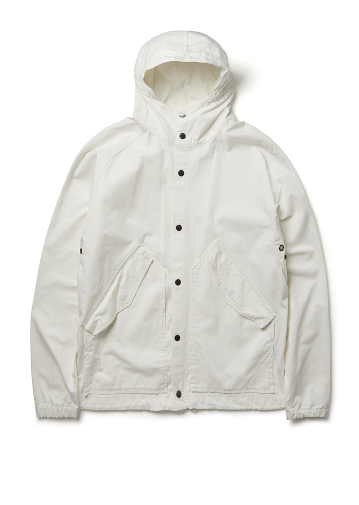 Hooded Parka in White