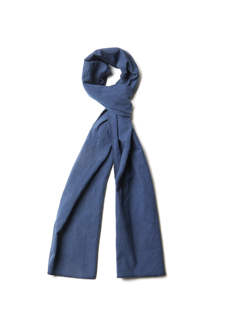 Cotton Scarf in Mid Blue
