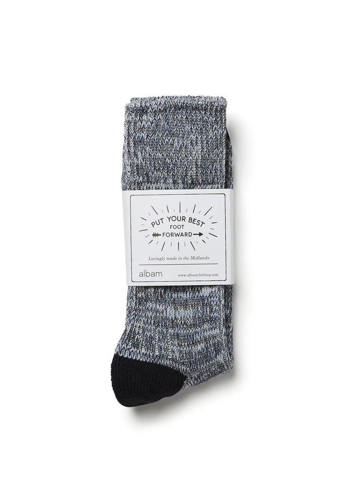 Marl Sock in Navy