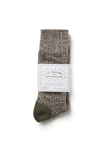 Marl Sock in Leaf Green