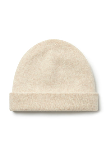 New - Wool Beanie in Ecru