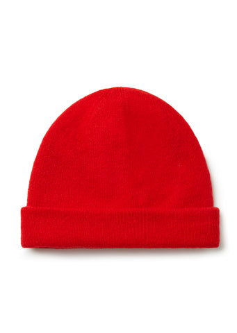 New - Wool Beanie in Red