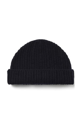 Ribbed Watch Cap in Navy