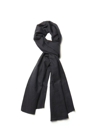 Cotton Scarf in Navy Pinstripe
