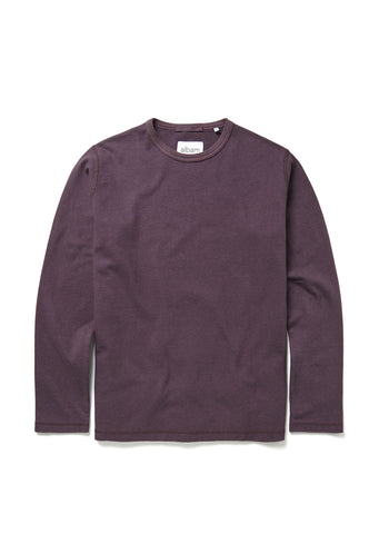 Mid-weight Sweatshirt in Plum