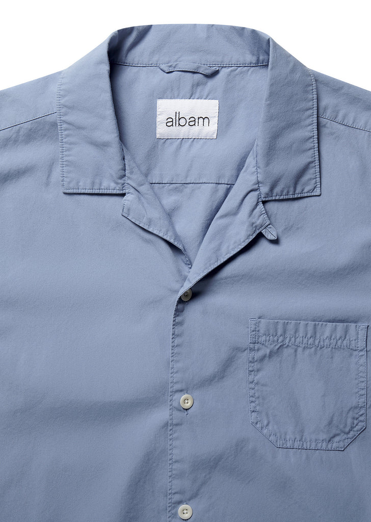 Panama Shirt in Stone Blue