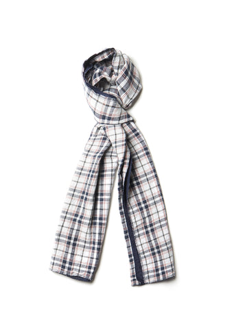 Cotton Scarf in Grey Check