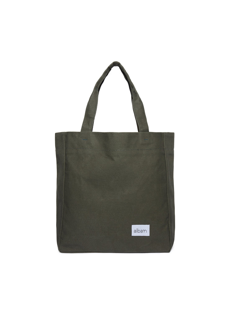 Canvas Tote in Olive Green