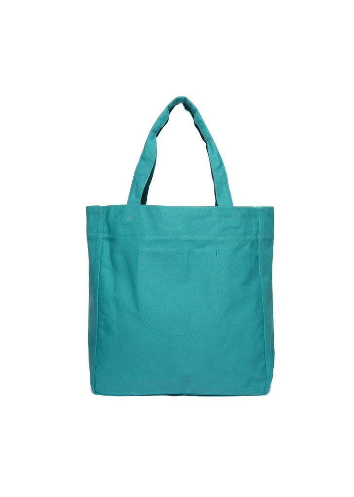 Canvas Tote in Teal