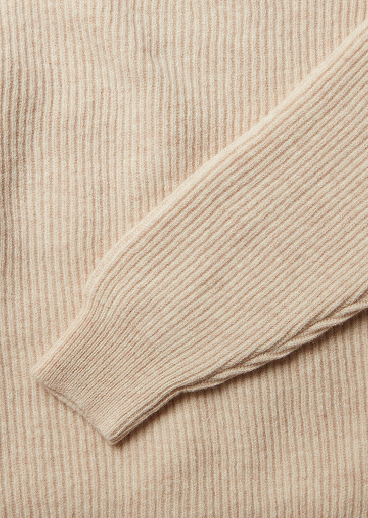 Ribbed Crew in Linen