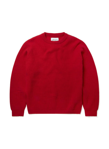 New - Ribbed Crew in Red