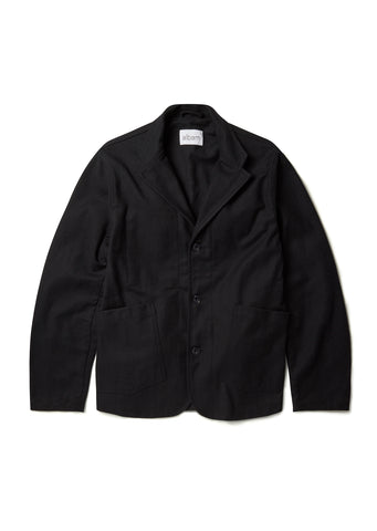 Wool Casual Blazer in Charcoal