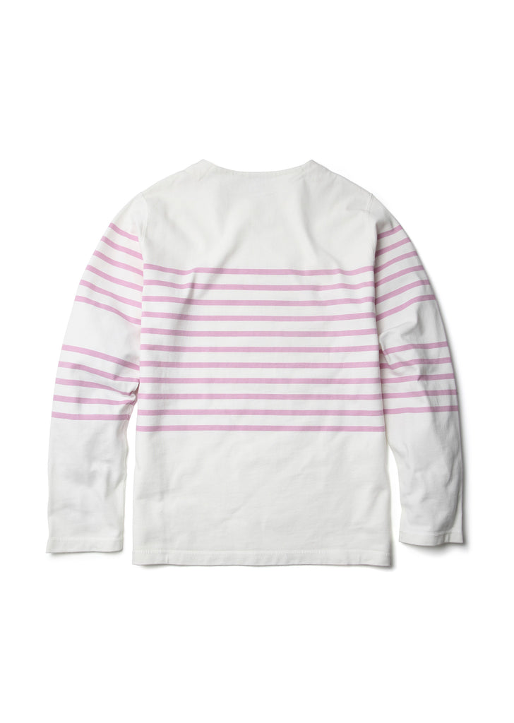 Striped Breton T-Shirt in Pink