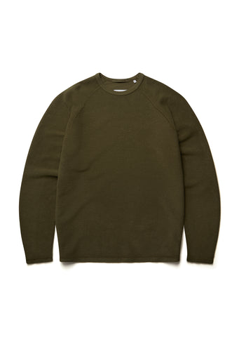 New - Reversed Loopback Sweatshirt in Olive
