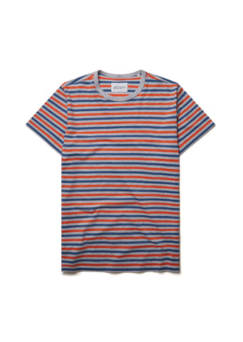 New - Striped T-Shirt in Nasturtium