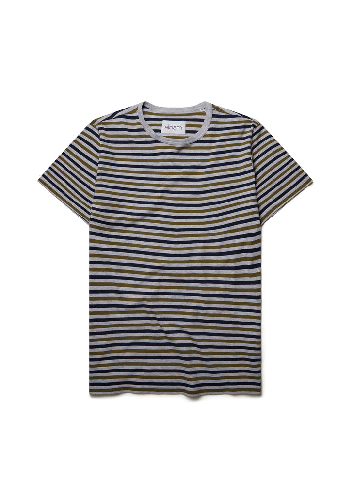 Striped T-Shirt in Olive