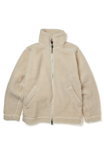 New - Fleece Jacket in Ecru