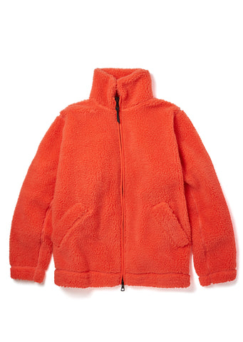 New - Fleece Jacket in Nasturtium