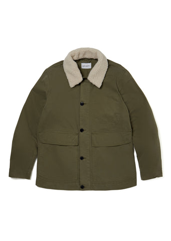 Sherpa Collar Jacket in Olive