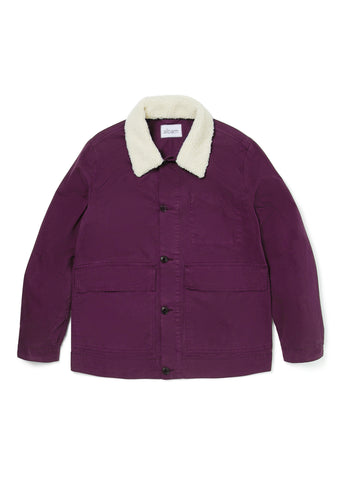 New - Sherpa Collar Jacket in Hortensia