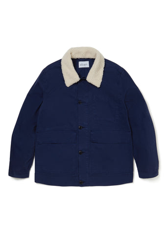 Sherpa Collar Jacket in Peacoat
