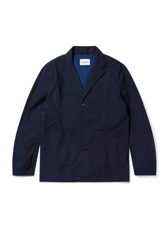 New - Seersucker Casual Blazer in Navy