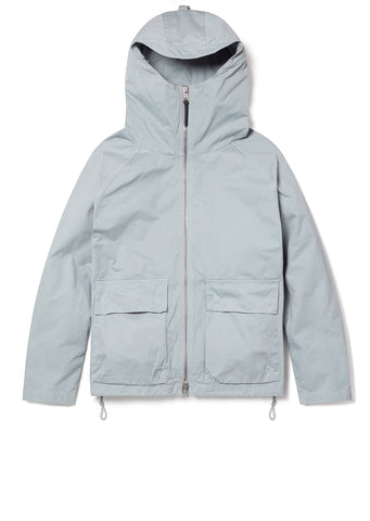 Zipped Hooded Parka in Quarry