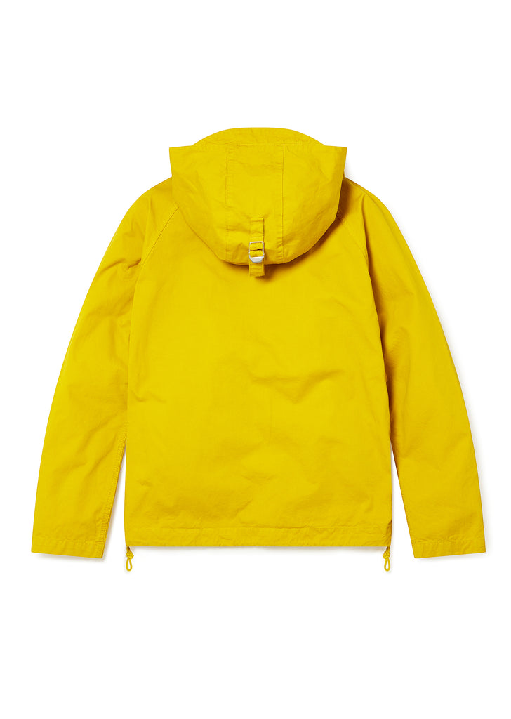 Zipped Hooded Parka in Rich Yellow
