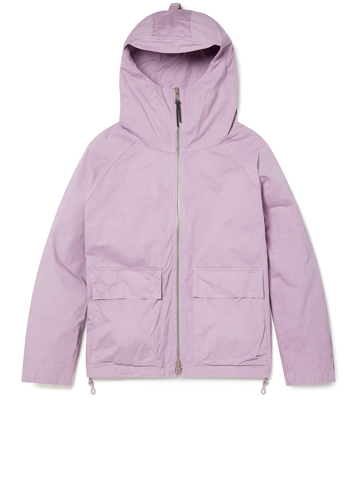Zipped Hooded Parka in Lavender Mist