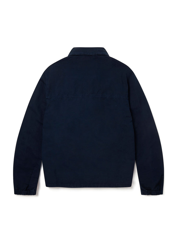 Linen Blend Harrington in Navy