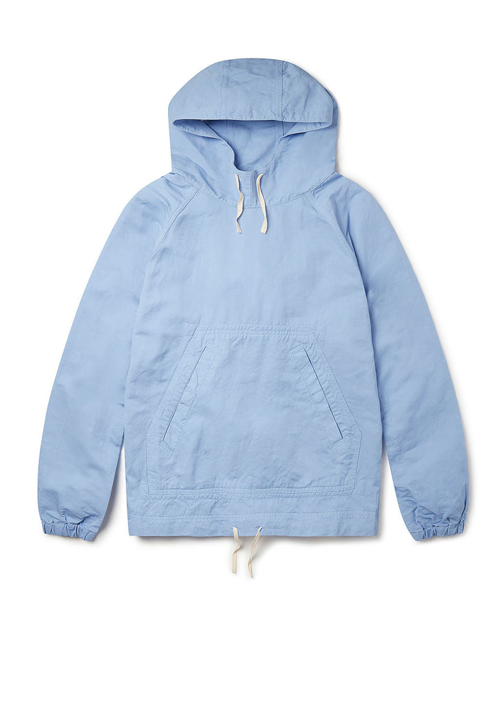 Linen Blend Hoody in Light Blue