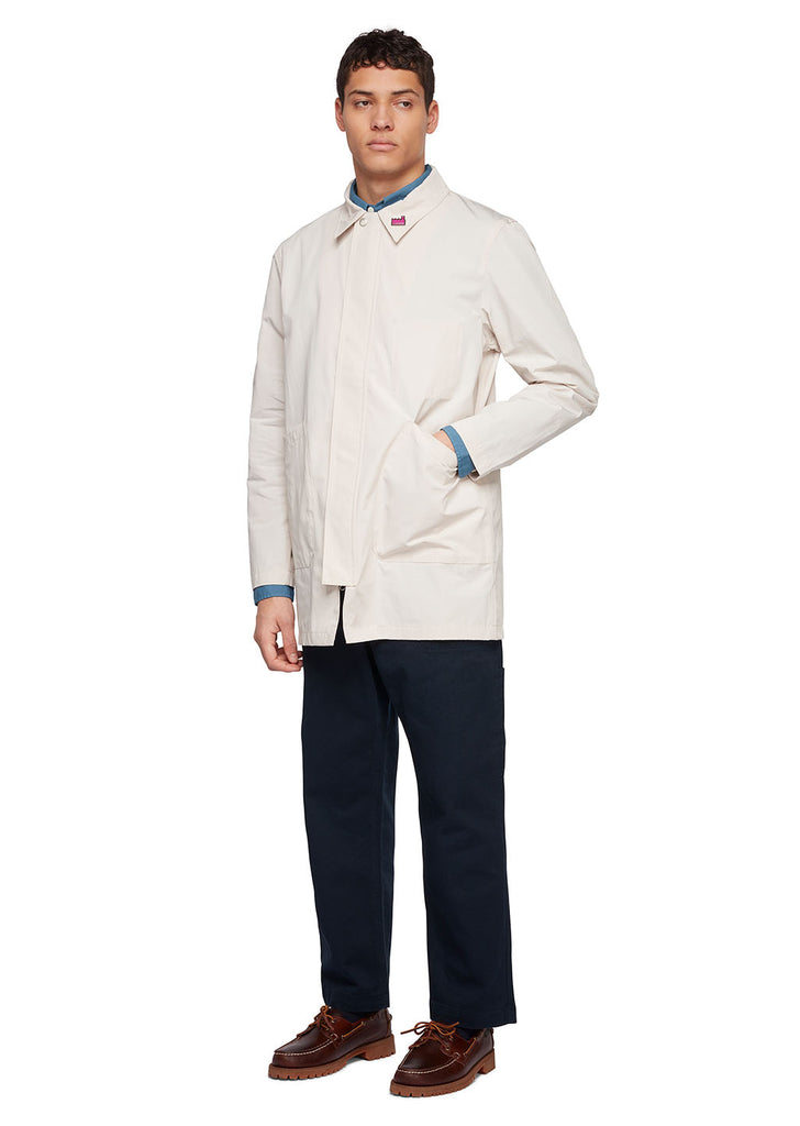 Utility Synthetic Foreman Jacket in White