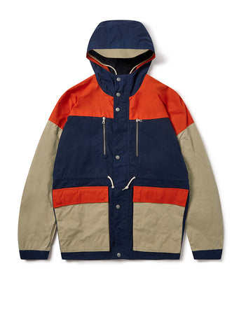 Orienteering Parka in Navy/Orange