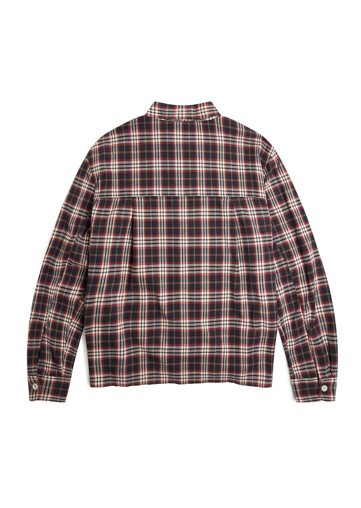 Brushed Flannel Blake Jacket in Charcoal Tartan Check
