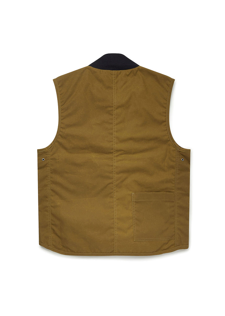 Waxed Overhall Vest in Mustard