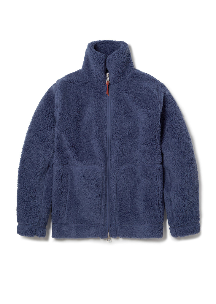 Fleece Zip Through in Indigo