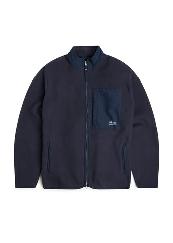 Utility Polar Fleece Track Top in Navy