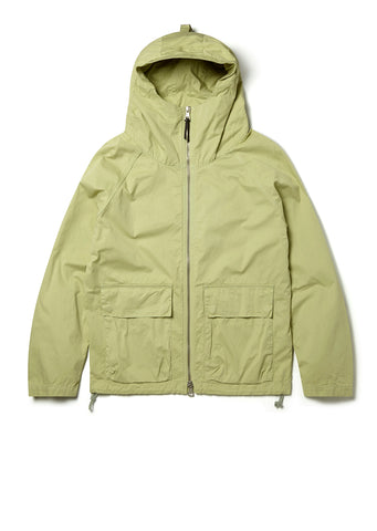 Zipped Hooded Parka in Pistachio Green